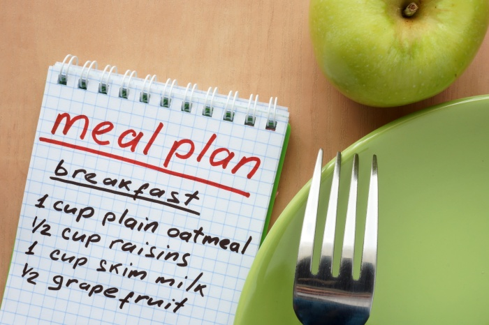 Following a nutritionplan